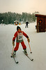 Jonathon skiing at the Skytop Skischule [graduation competitions] - (February 26, 1988 / Obersalzberg, Berchtesgaten, Bavaria, West Germany) -- Jonathon