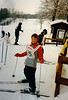Andrew skiing at the Skytop Skischule [graduation competitions] - (February 26, 1988 / Obersalzberg, Berchtesgaten, Bavaria, West Germany) -- Andrew