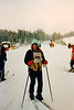 Cristen skiing at the Skytop Skischule [graduation competitions] - (February 26, 1988 / Obersalzberg, Berchtesgaten, Bavaria, West Germany) -- Cristen