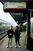 Michael & Cristen at the Trier Bahnhof enroute to Luxembourg - (January 12, 1988 / Trier, Rheinland-Pfalz, West Germany) -- Michael & Cristen