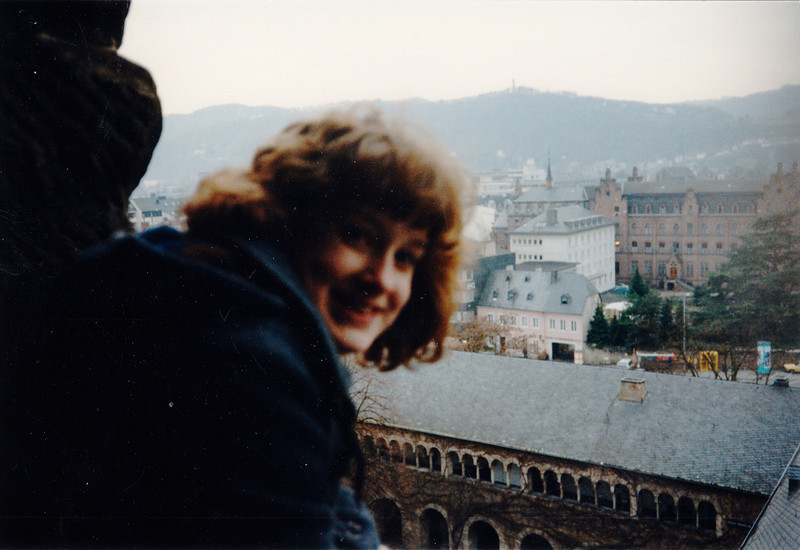 Cristen on Porta Nigra - (January 9, 1988 / Trier, Rheinland-Pfalz, West Germany) -- Cristen
