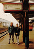 David & Michael at the Trier Bahnhof enroute to Luxembourg - (January 12, 1988 / Trier, Rheinland-Pfalz, West Germany) -- David & Michael