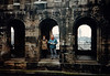 MaryAnne & David on Porta Nigra - (January 9, 1988 / Trier, Rheinland-Pfalz, West Germany) -- MaryAnne & David