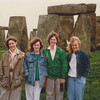 Cristen and MaryAnne in front of Stonehenge - (May 4, 1988 / Amesbury, Wiltshire, England, United Kingdom) -- Cristen and MaryAnne