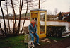 David at flooded Glan River in Matzenbach (February 28, 1990 / West Germany, Rheinland Pfalz, Matzenbach, Eisenbacher Straße) -- David