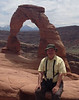 June 10, 2014 - (Arches National Park [above Delicate Arch] / Moab, Grand County, Utah) -- David