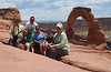 June 10, 2014 - (Arches National Park [above Delicate Arch] / Moab, Grand County, Utah) -- David, Michael, Aaron, Emily, James & MaryAnne
