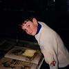 Jonathon viewing displays inside the Gutenberg Museum - (December 6, 1988 / Mainz, Rheinland-Pfalz, West Germany) -- Jonathon