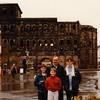 Jonathon, Andrew, David, and Michael in front of Porta Nigra - (December 19, 1988 / Trier, Rheinland-Pfalz, West Germany) -- Jonathon, Andrew, David, and Michael