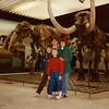 Jonathon, Michael, Andrew, and Cristen in the Naturmuseum Senckenberg [Natural History Museum] - (December 26, 1988 / Frankfurt am Main, Hesse, West Germany) -- Jonathon, Michael, Andrew, and Cristen