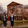 Cristen, Andrew, and Michael in front of Konstantinbascilika und Kurfürstliches Palais (Electoral Palace) - (December 19, 1988 / Trier, Rheinland-Pfalz, West Germany) -- Cristen, Andrew, and Michael