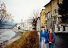 Jonathon & Andrew by Inn River in Rattenberg am Inn (November 23, 1990 / Rattenberg am Inn, Austria) -- Jonathon & Andrew