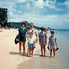 MaryAnne, David, Andrew, Michael, and Jonathon - (August 22, 1986 / Fort Derussy Beach Park, Waikiki Beach,  Honolulu, Oahu, Hawaii) -- MaryAnne, David, Andrew, Michael, and Jonathon