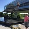 July 17, 2015 - (William J. Clinton Presidential Library / Little Rock, Pulaski County, Arkansas) -- MaryAnne with Dinosaur Model