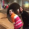 "Grace. Cristen & MaryAnne near ""Beethoven's Trumpet (with Ear) Opus #132"" by John Baldessari @ Crystal Bridges Museum of American Art"